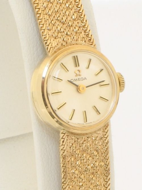 Exquisite Solid 9ct Gold Ladies Omega Cocktail Watch