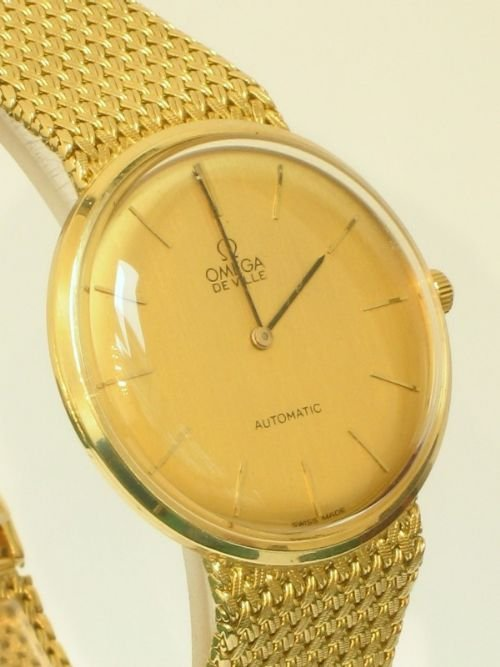 Exceptional Solid 18ct Gold 18k Omega Deville Automatic