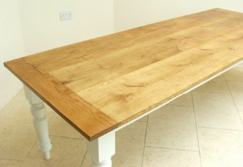 seat victorian solid oak and pitch pine painted farmhouse dining table
