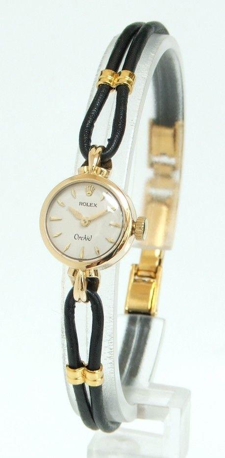 Ladies Rolex Watches Uk >> Beautiful Solid 18ct Gold Rolex Orchid Ladies Cocktail Watch C1960 | 126903 | Sellingantiques.co.uk