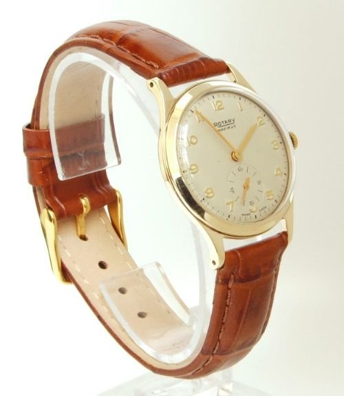 exceptional solid 9ct gold rotary maximus mens watch c1954 55 page load time 0 23 seconds