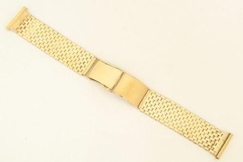 9d582099d1f ... vintage solid 9ct gold brick link mens watch bracelet or strap c1960 ...