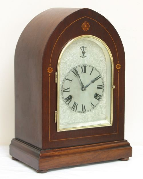 superb victorian mahogany hac westminster chime lancet mantel clock c1890 - photo angle #2