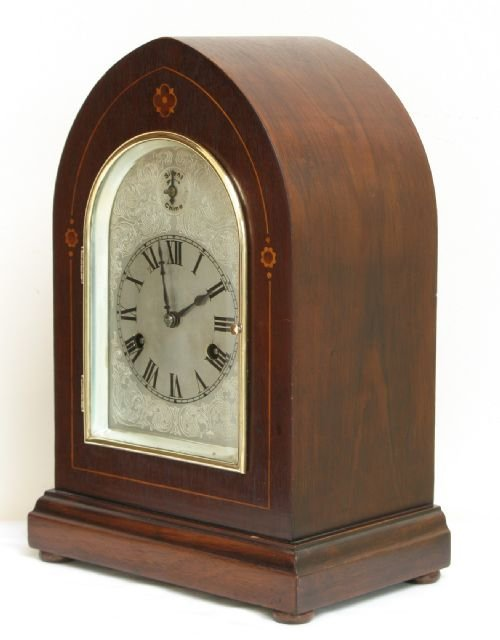 superb victorian mahogany hac westminster chime lancet mantel clock c1890 - photo angle #3