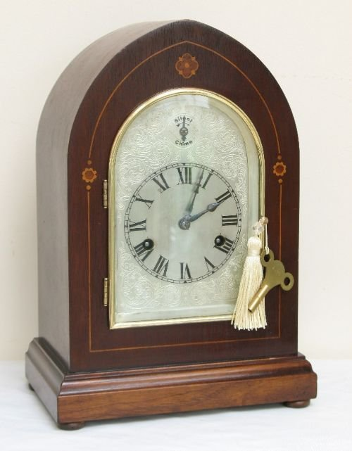 superb victorian mahogany hac westminster chime lancet mantel clock c1890 - photo angle #5