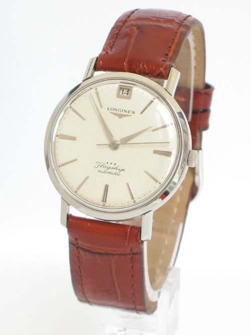 60a5c5fe5228a stunning solid stainless steel longines flagship automatic mens watch c1960