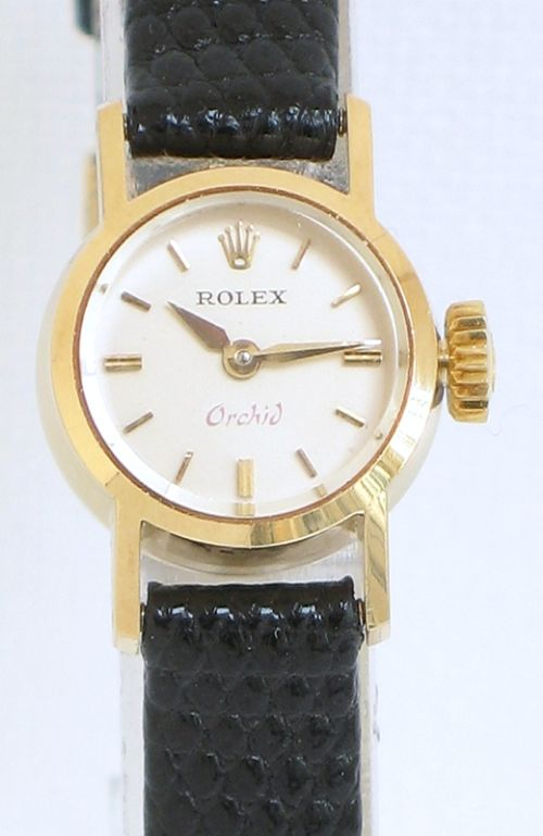 Ladies Rolex Watches Uk >> Beautiful Solid 18ct Gold Rolex Orchid Precision Ladies Cocktail Watch C1960 | 187762 ...