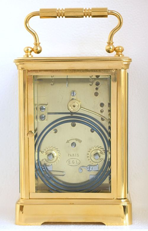 stunning victorian gilt striking carriage clock with