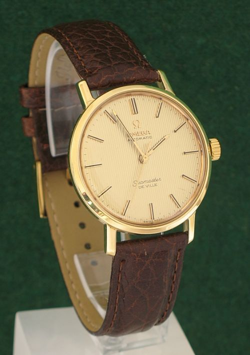 exceptional solid 18ct gold omega seamaster deville automatic mens exceptional solid 18ct gold omega seamaster deville automatic mens watch c1960