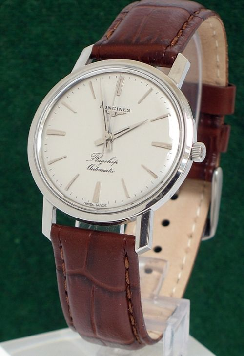 longines flagship automatic stainless steel mens watch c1960 longines flagship automatic stainless steel mens watch c1960
