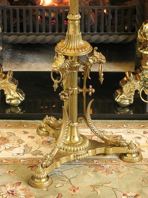 breathtaking decorative victorian solid brass standard