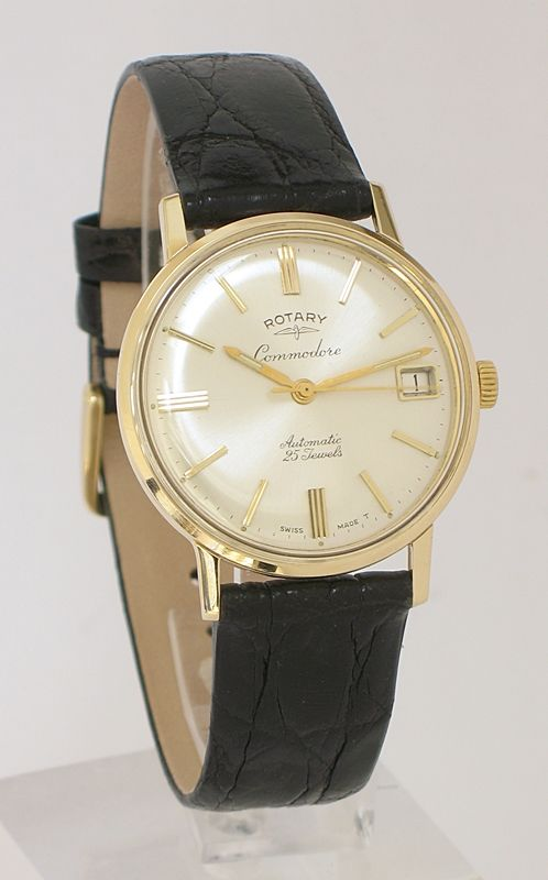 stunning solid 9ct gold rotary commodore automatic 25 jewel mens stunning solid 9ct gold rotary commodore automatic 25 jewel mens watch