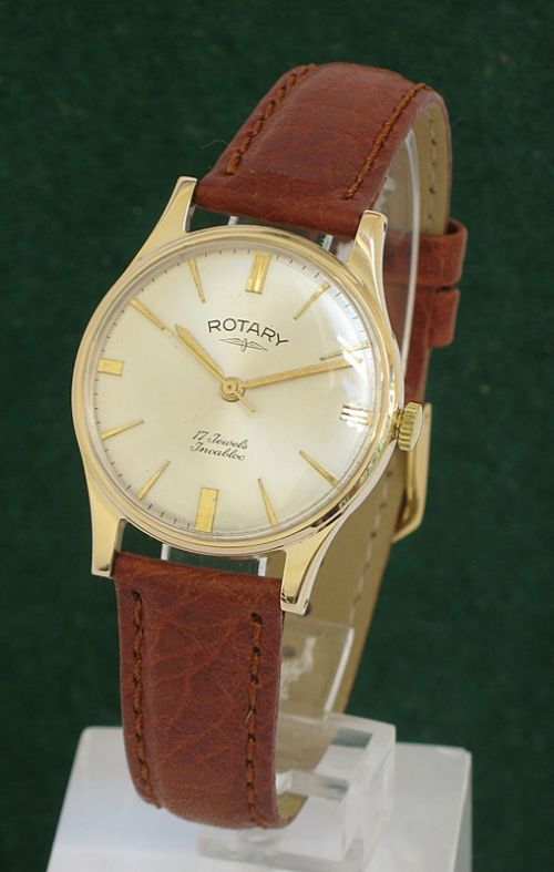 solid 9ct gold rotary incabloc mens watch 284971 solid 9ct gold rotary incabloc mens watch