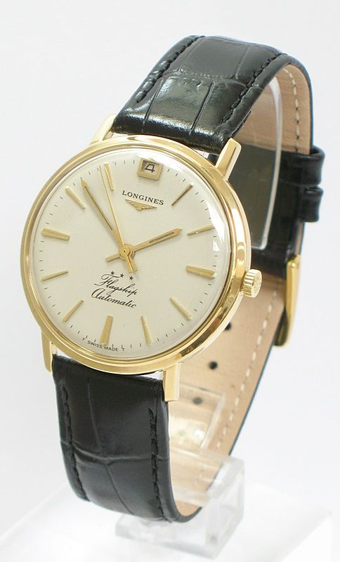 18ct 18k gold longines flagship calibre 341 automatic date 18ct 18k gold longines flagship calibre 341 automatic date mens watch c1960