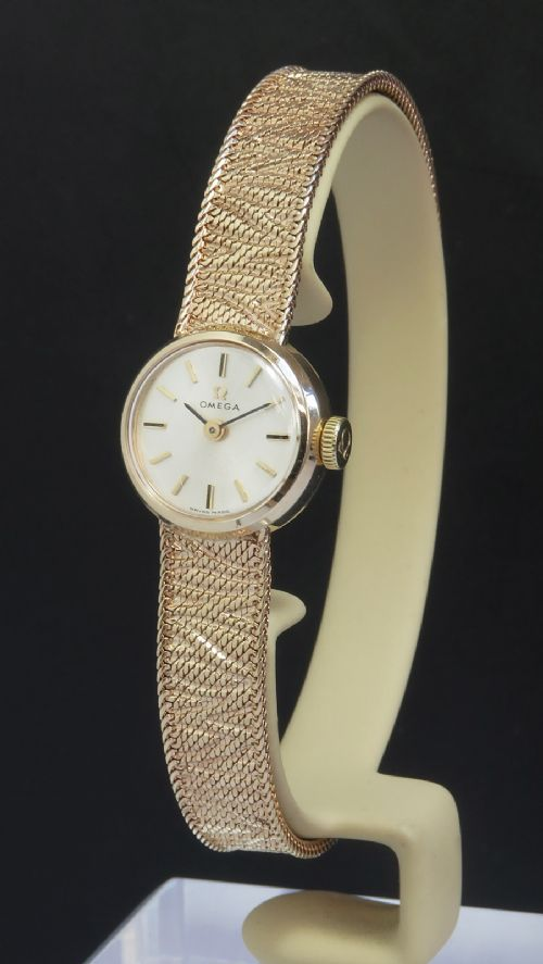 solid 9ct gold omega ladies cocktail watch c1966