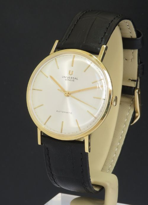 solid 18ct gold universal geneve microrotor automatic c19