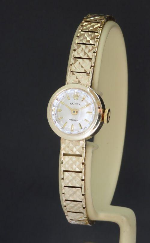 solid 9ct gold rolex precision ladies cocktail watch c1966
