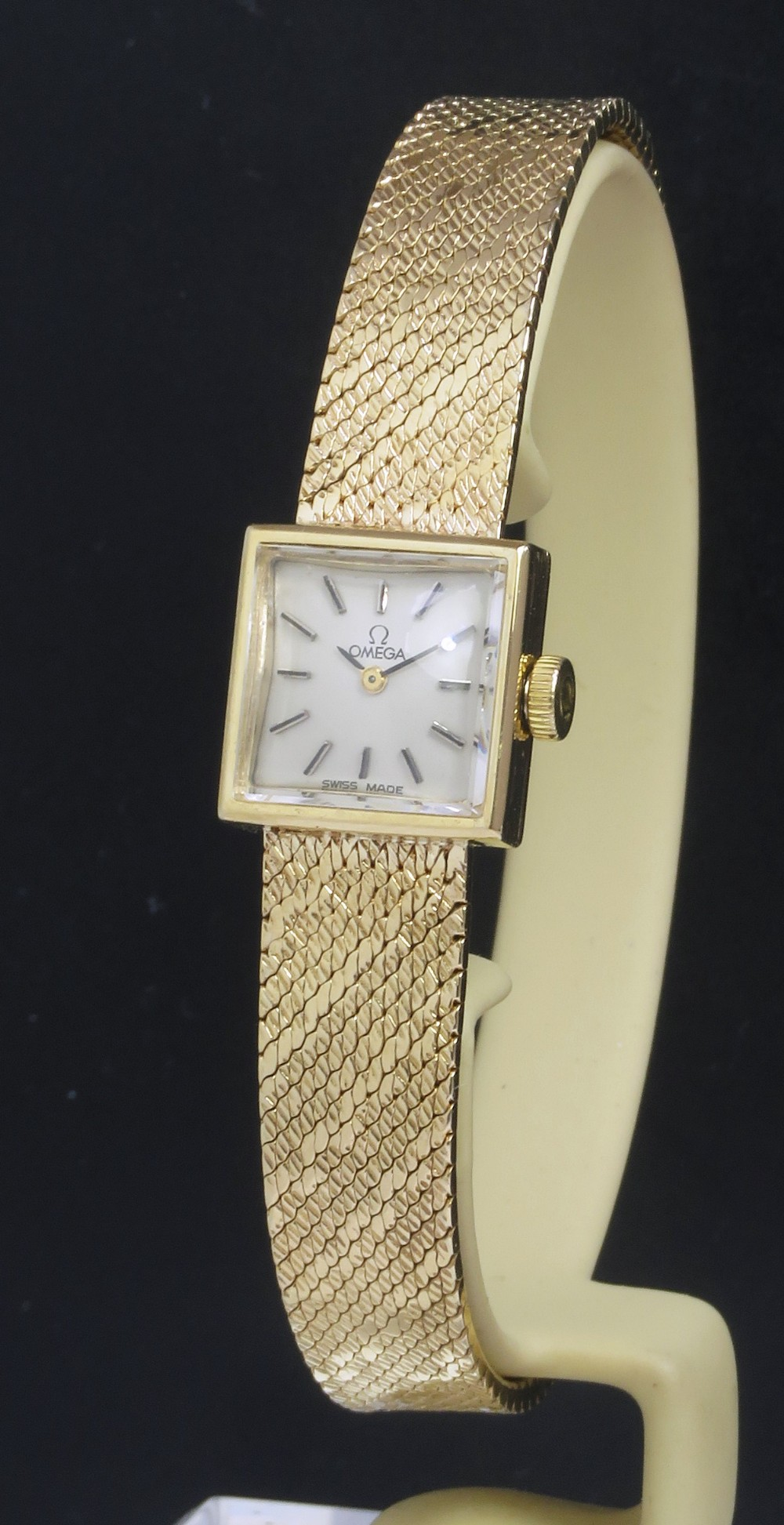solid 9ct gold omega ladies cocktail watch c1964