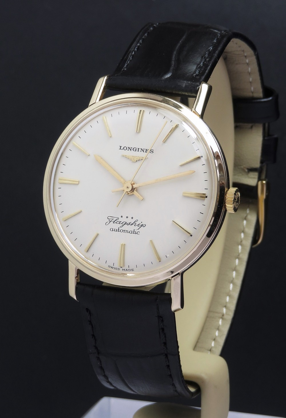 solid 9ct gold longines flagship automatic c1965