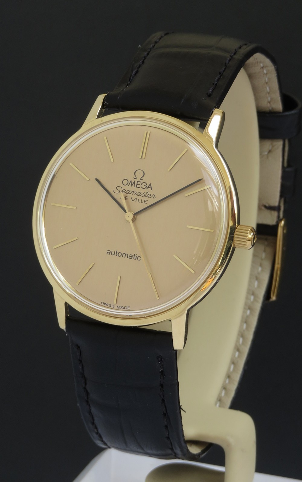 solid 18ct gold omega seamaster automatic slimline deluxe c1966