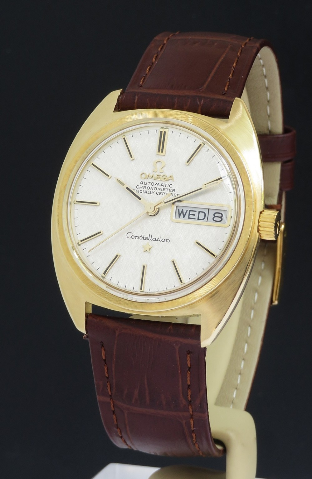solid 18ct gold omega constellation chronometer automatic c1968