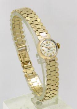 Superb Solid 9ct Gold Tissot Seastar Seven Mens Watch