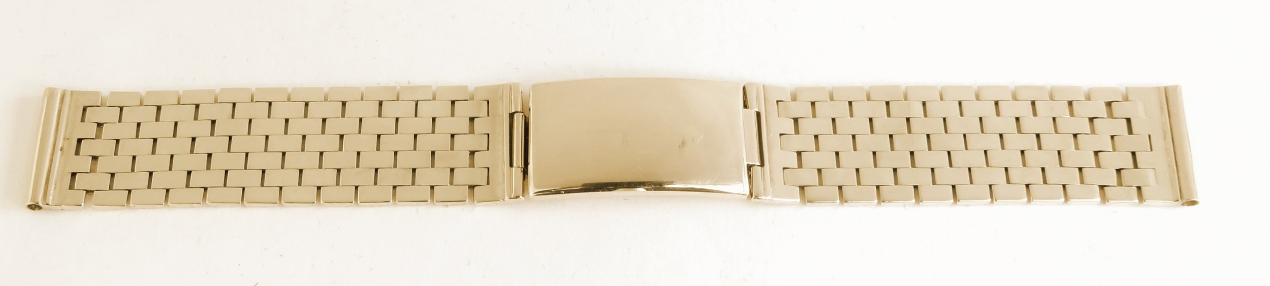 solid 9ct gold watch bracelet strap c1961