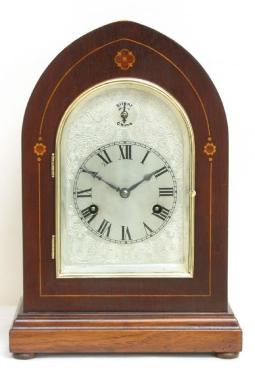 superb victorian mahogany hac westminster chime lancet mantel clock c1890