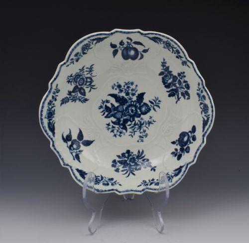 first period worcester porcelain salad junket bowl pine cone pattern