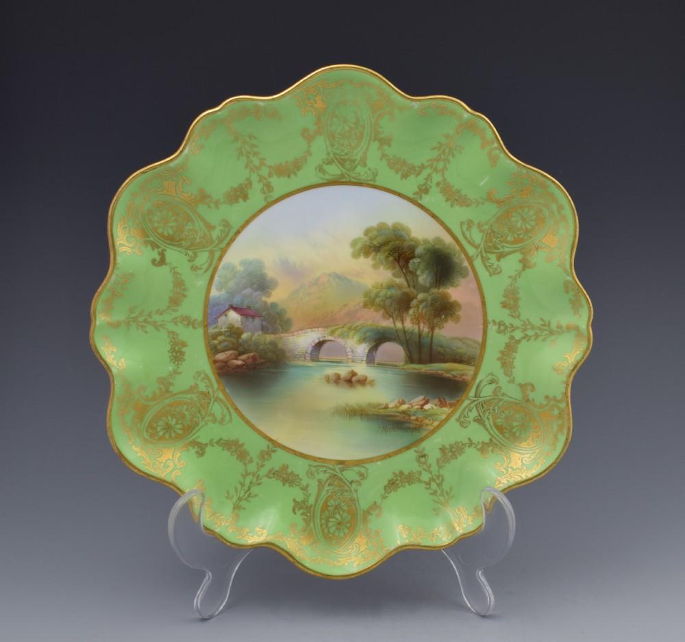 aynsley cabinet dessert plate f micklewright beddgelert c1910