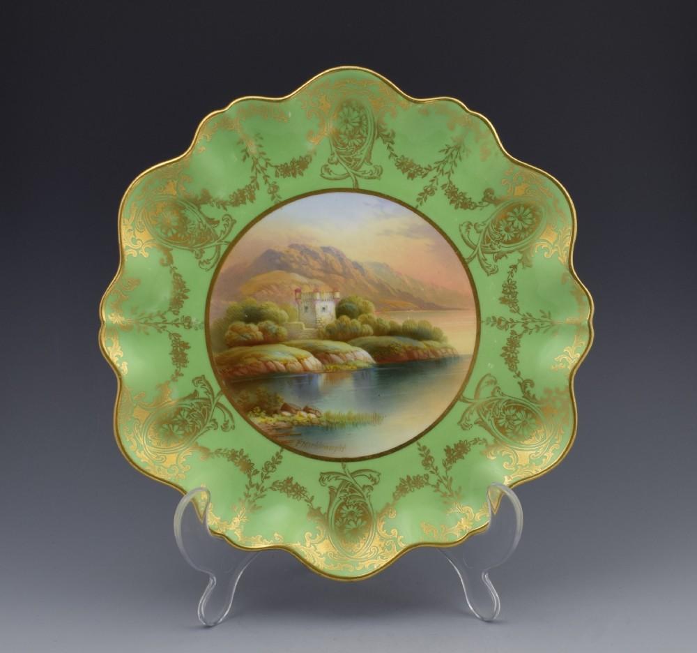 aynsley cabinet plate loch leven castle frederick c1910