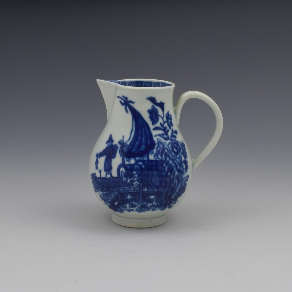 first period worcester porcelain fisherman cream jug c1775
