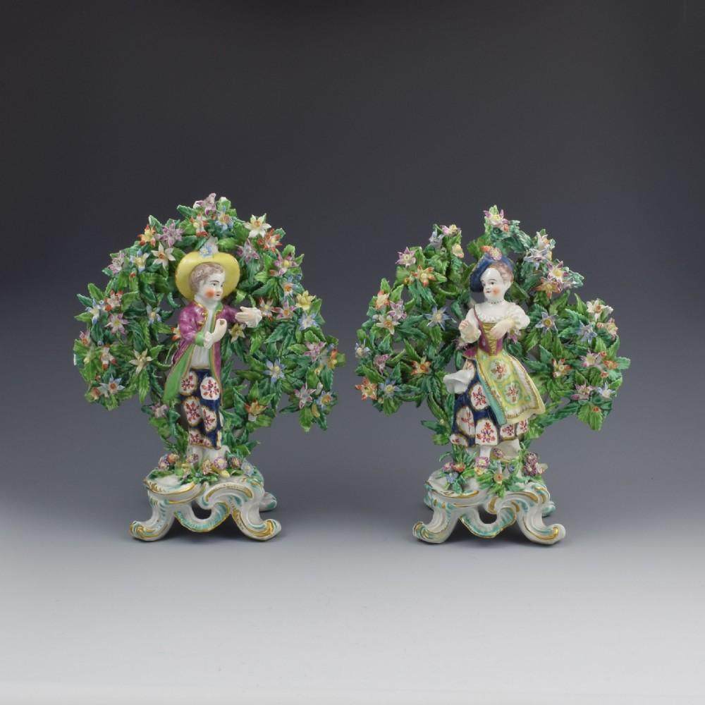 pair bow porcelain bocage figures new dancers c1765