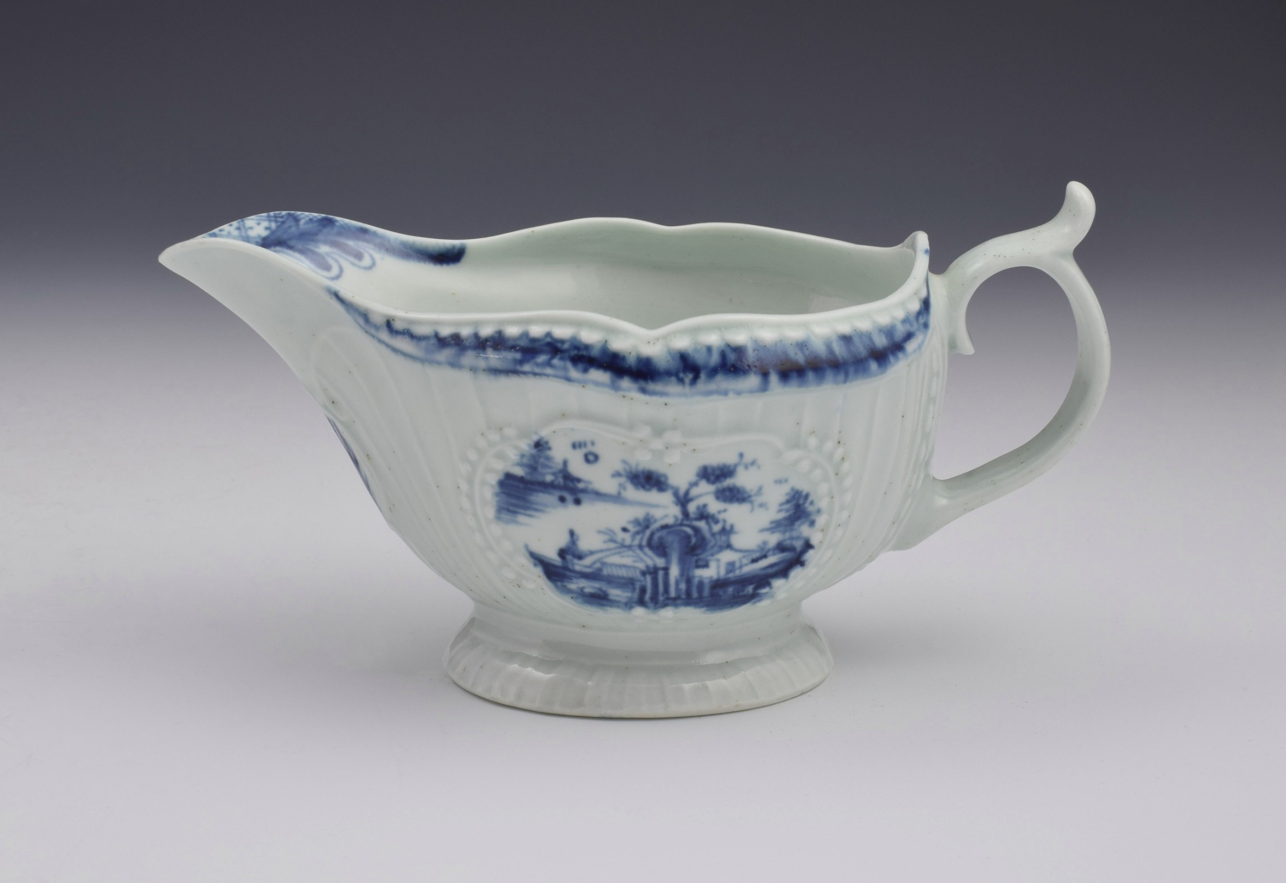 first period worcester sauceboat the fisherman billboard island pattern sauce boat