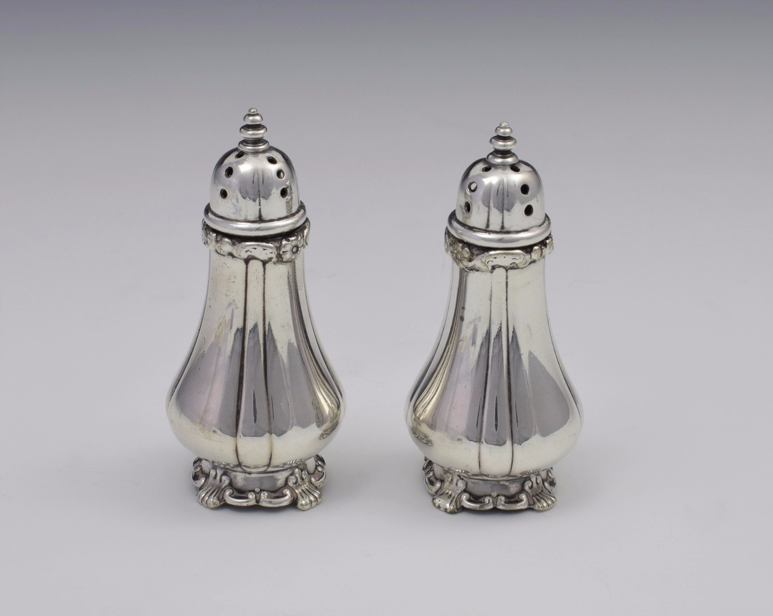 pair victorian tiffany co soldered silver pepperettes