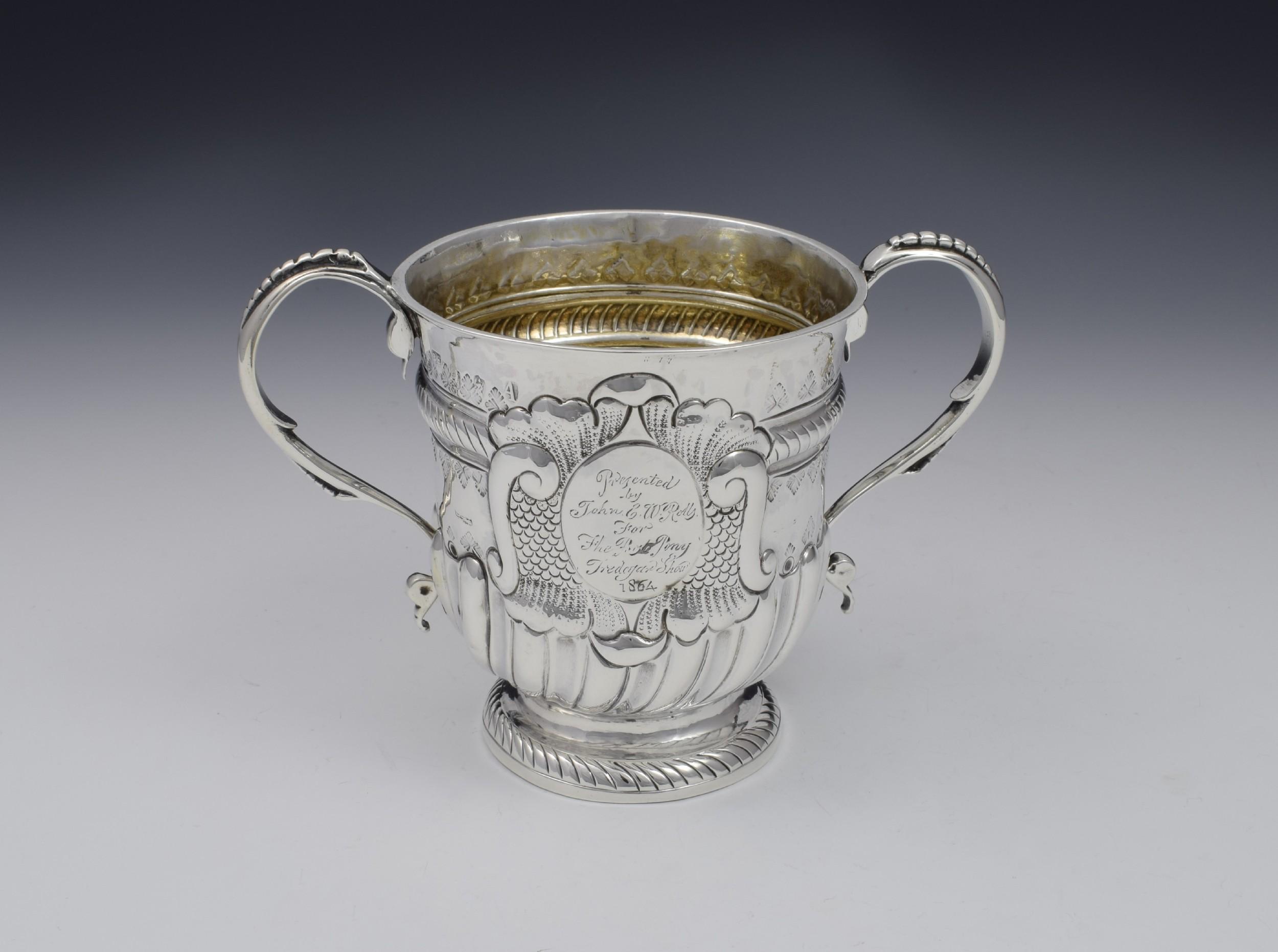 george i silver twin handled loving cup joseph bell i georgian
