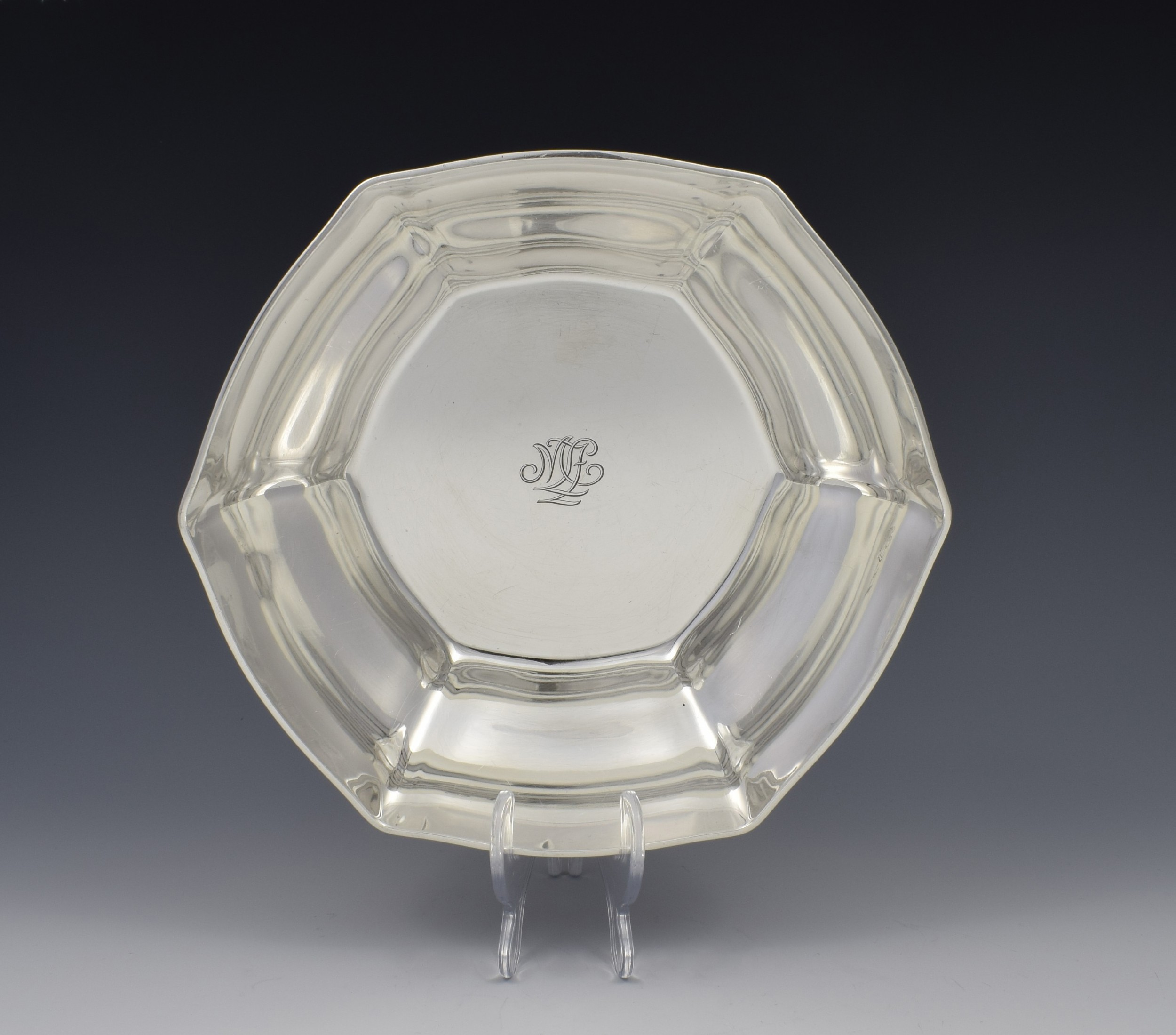 large tiffany co sterling silver fruit bowl c1911