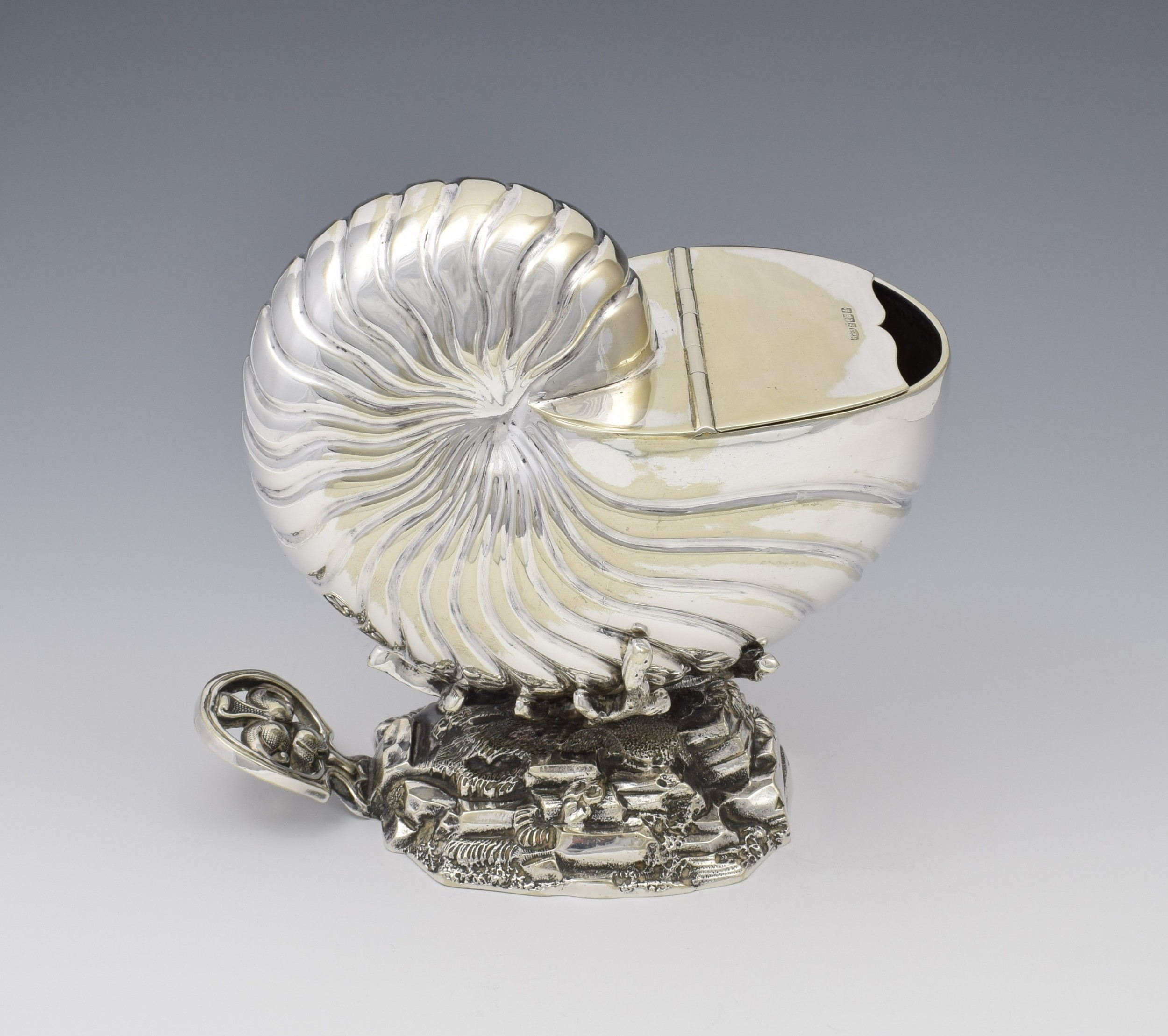 victorian silver plated nautilus shell spoon warmer roberts belk