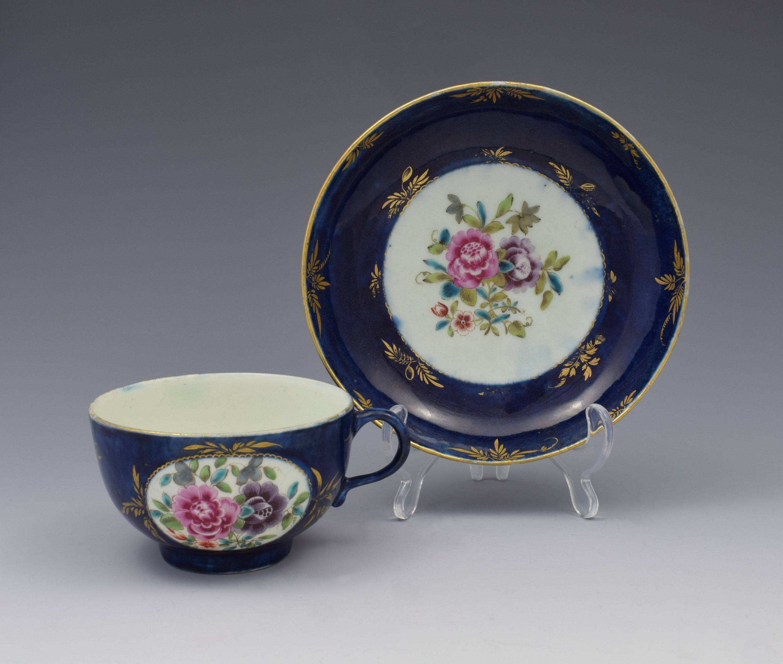first period worcester porcelain compagnie des indes cup saucer c1770