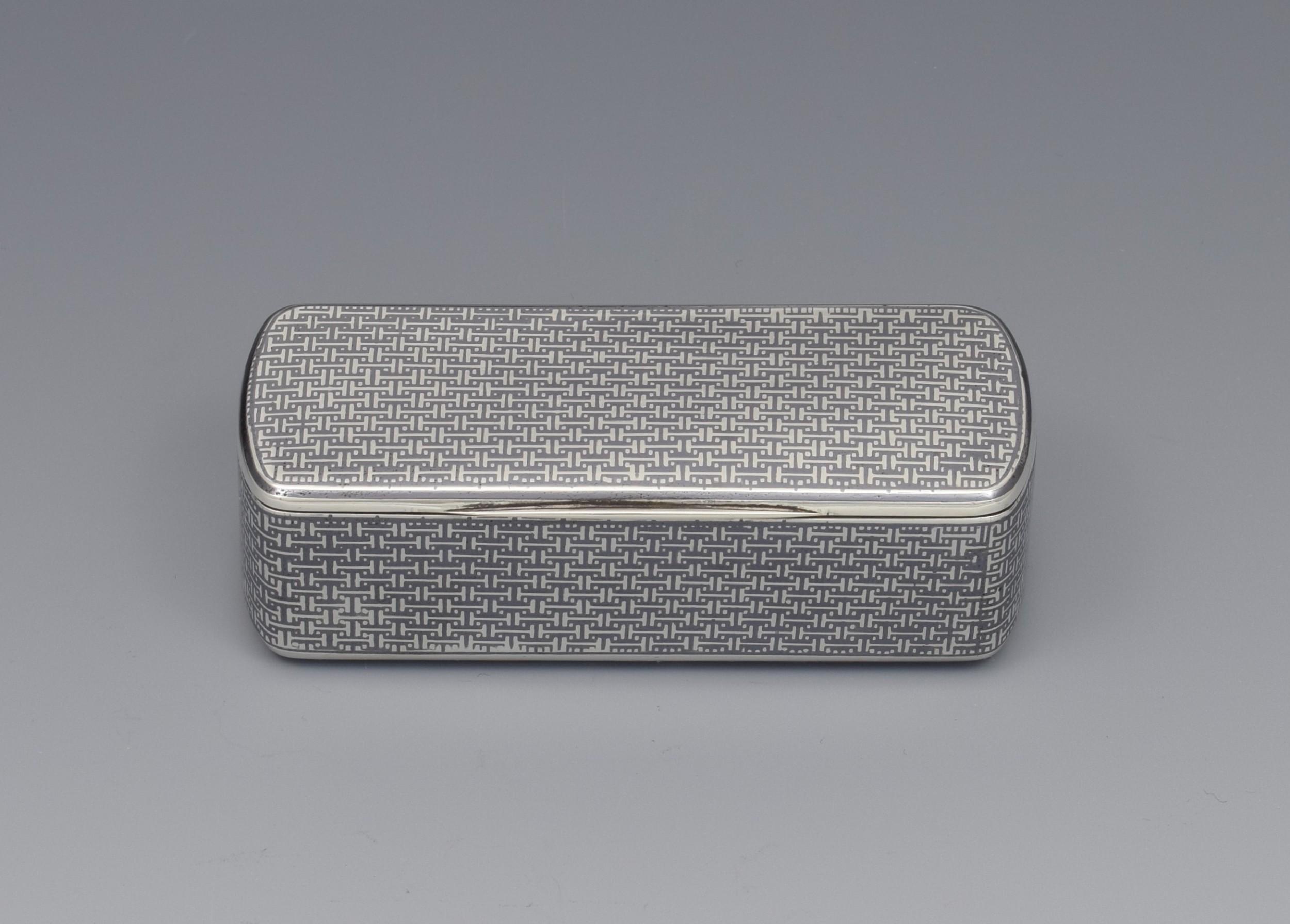 fine french silver niello snuff box c1870
