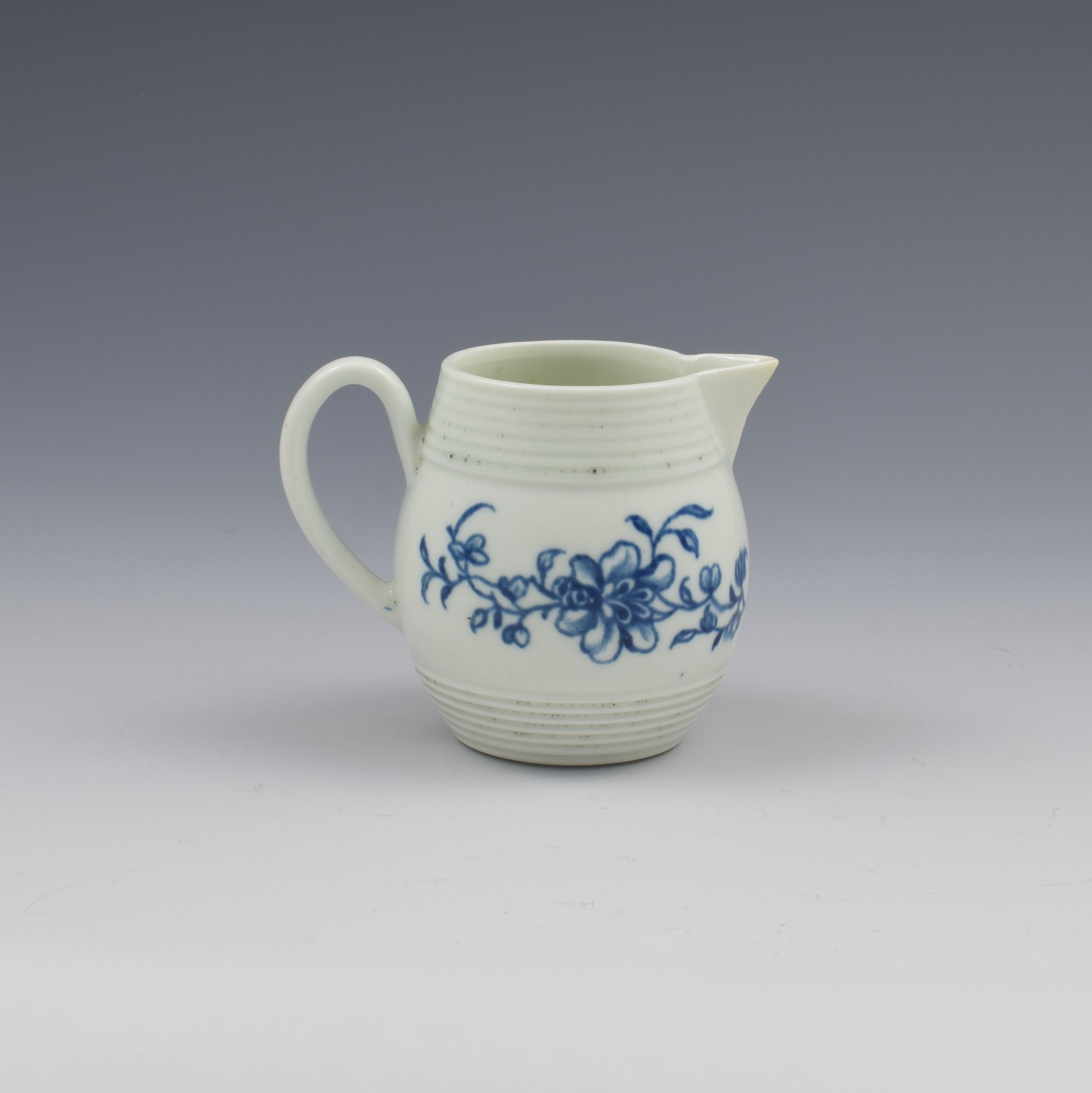 rare first period worcester porcelain early peony print cream jug c17581760