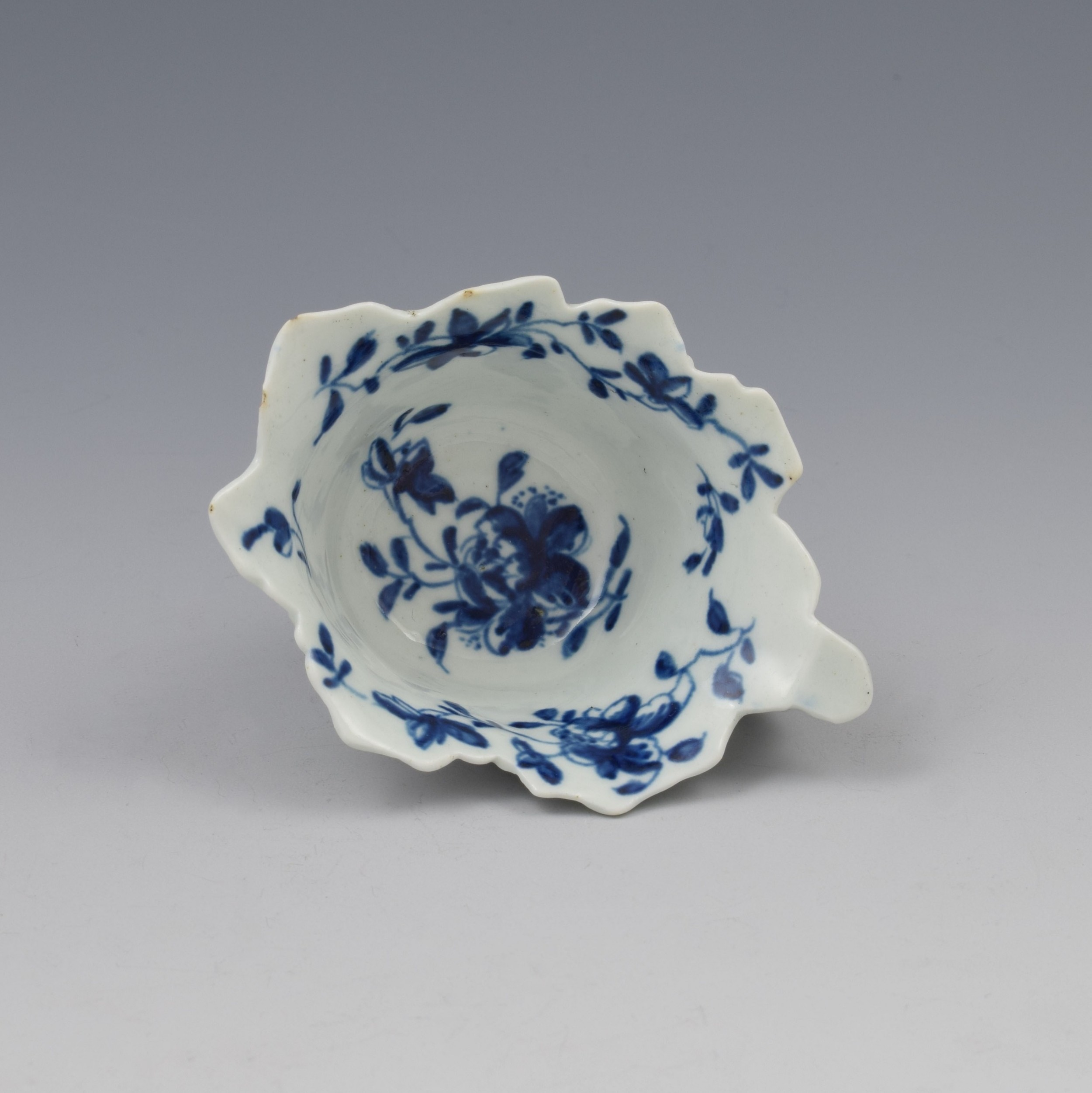 first period worcester porcelain mansfield butter boat c1758