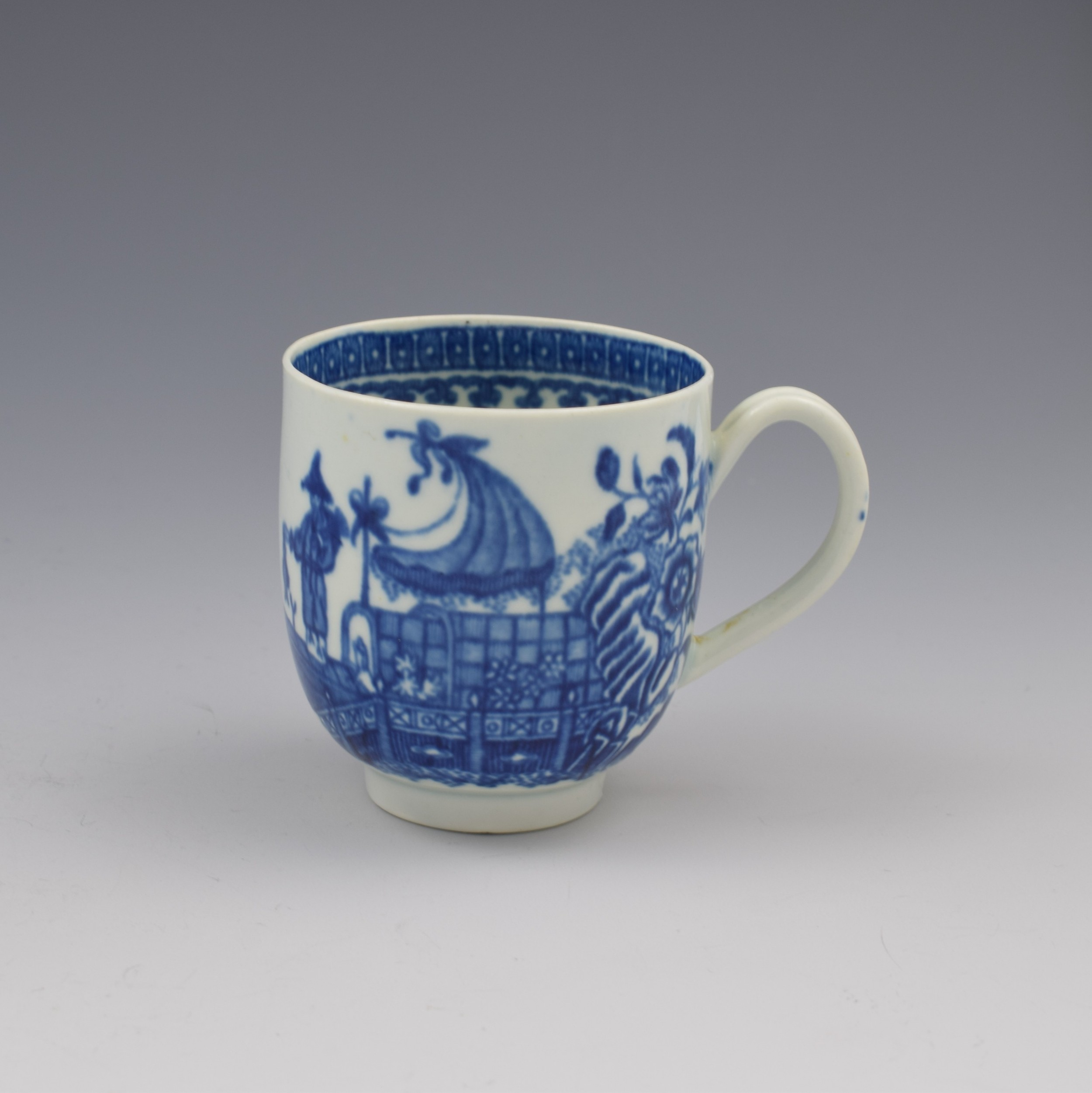 first period worcester porcelain fisherman coffee cup c1775 1