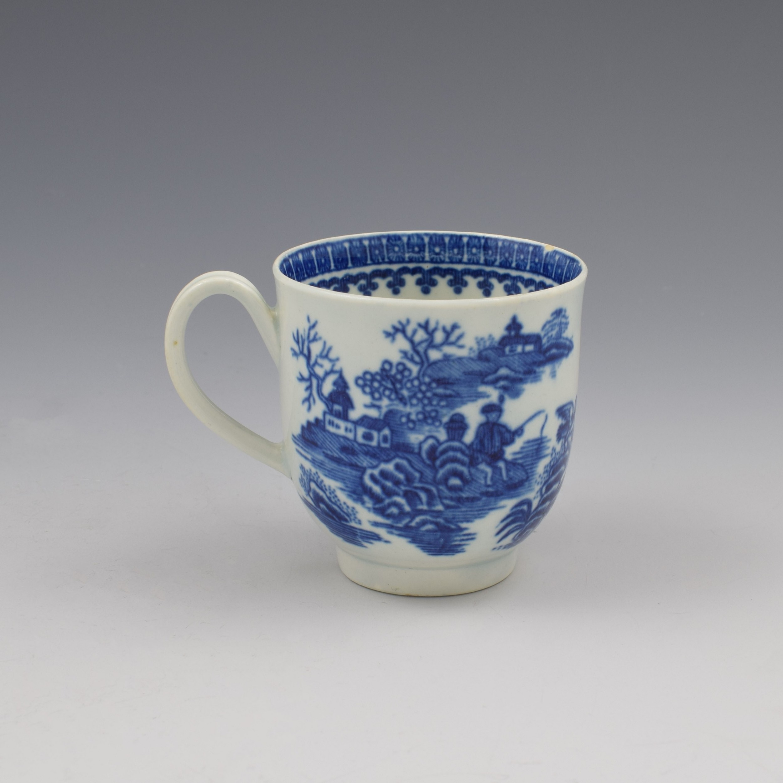 first period worcester porcelain fisherman coffee cup c1775 2