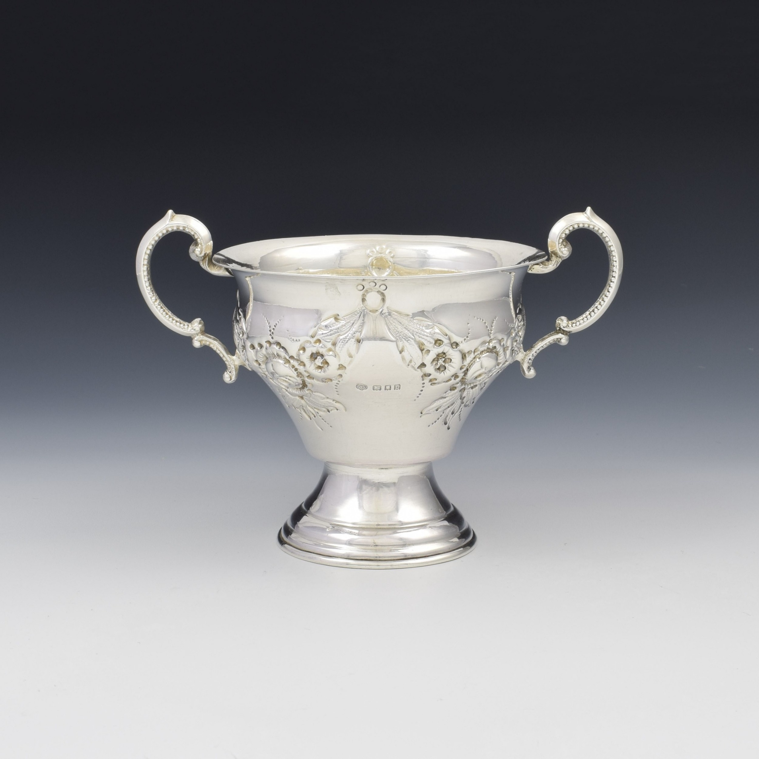 george v silver twin handled trophy cup jacob rosenzweig 1918