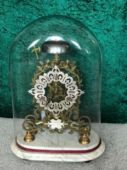 fine 19th century skeleton clock circa 1875 striking library mantelclock