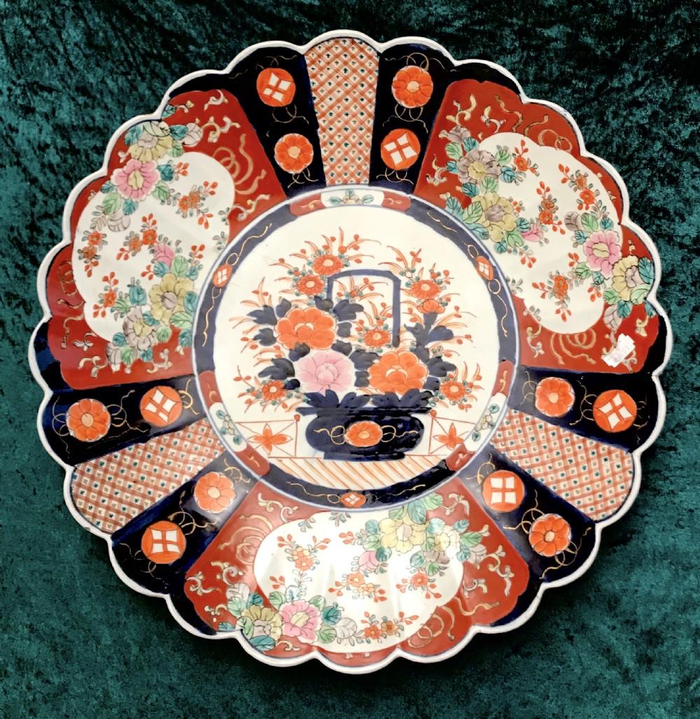 good and large imari charger japanese wall plate circa 1900