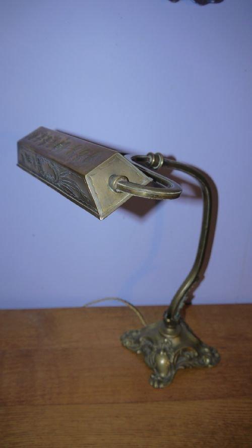 Antique French Art Nouveau Bronze Quot Bankers Quot Desk Lamp