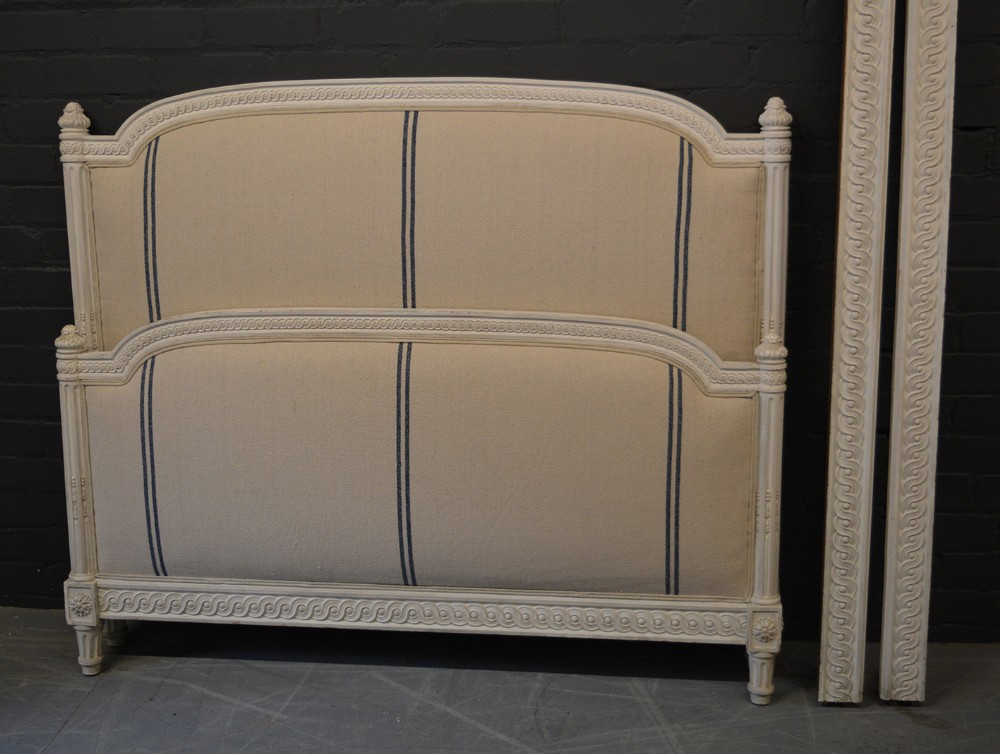french louis xvi style king size upholstered bedstead