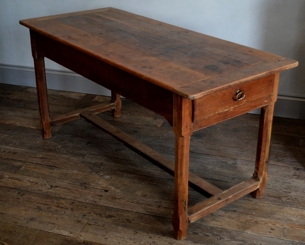 small 19th century cherry french farmhouse refectory table